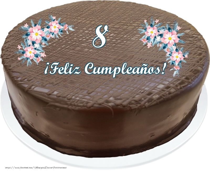 8 años ¡Feliz Cumpleaños! - Tarta