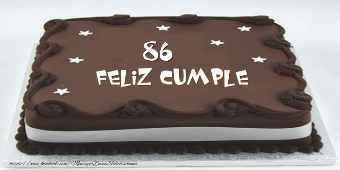 Tarta Feliz cumple 86 años
