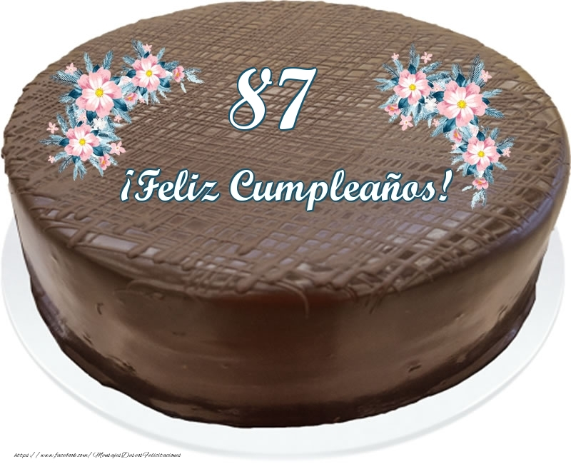 87 años ¡Feliz Cumpleaños! - Tarta