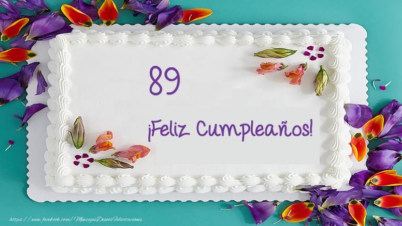 ¡Feliz Cumpleaños 89 años! Tarta