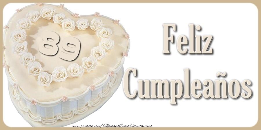 89 años Feliz Cumpleaños