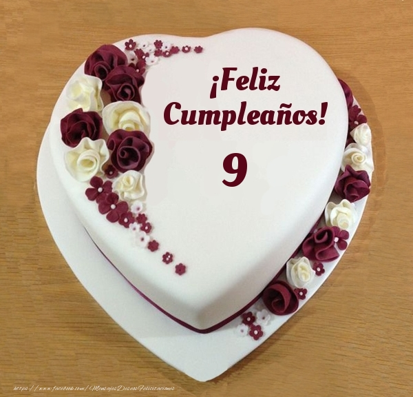 ¡Feliz Cumpleaños! - Tarta 9 años