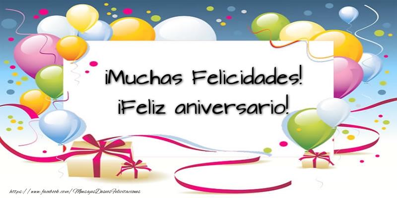 Felicitaciones de aniversario - ¡Muchas Felicidades! ¡Feliz aniversario!