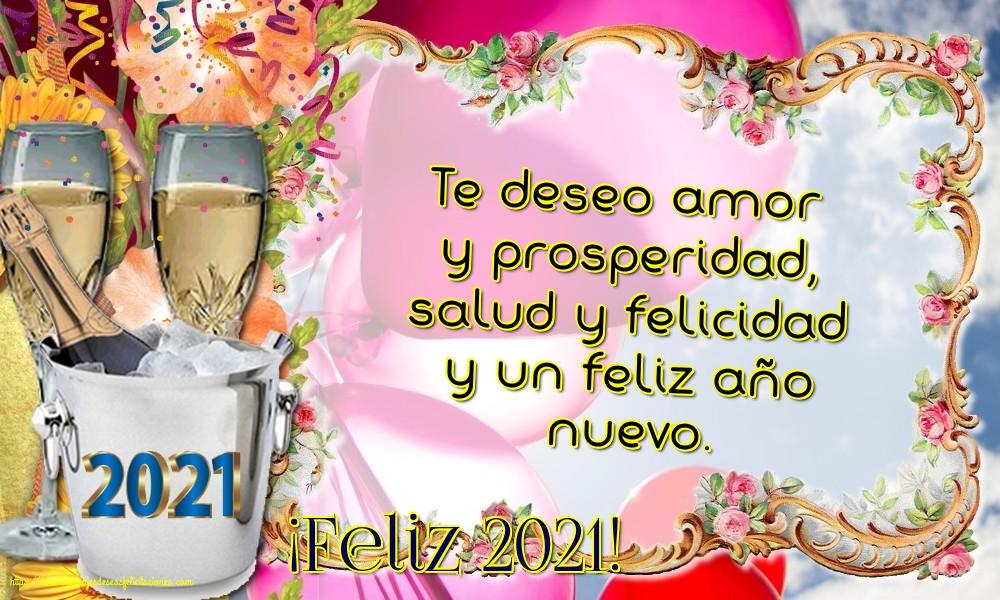 Felicitaciones de Año Nuevo - ¡Feliz 2021!
