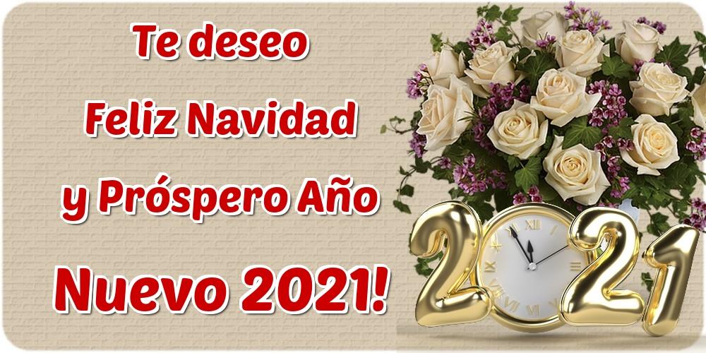 Felicitaciones de Año Nuevo - Te deseo Feliz Navidad y Próspero Año Nuevo 2021!