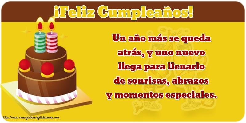 Felicitaciones de cumpleaños con mensajes - ¡Feliz Cumpleaños!