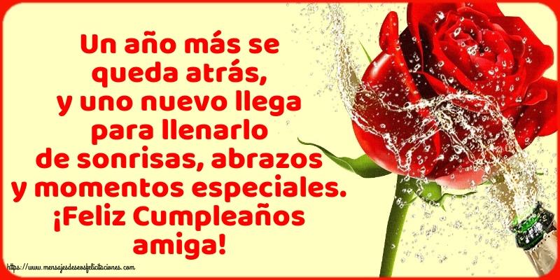 Felicitaciones de cumpleaños con mensajes - ¡Feliz Cumpleaños amiga!