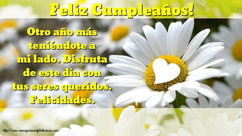 Felicitaciones de cumpleaños con mensajes - Feliz Cumpleaños!
