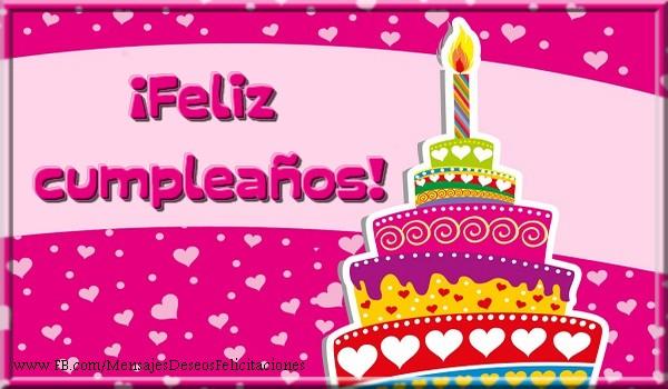 Felicitaciones de cumpleaños - ¡Feliz cumpleaños! - mensajesdeseosfelicitaciones.com