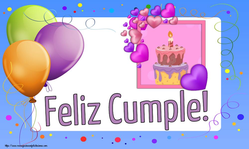 Felicitaciones de cumpleaños - Feliz Cumple! - mensajesdeseosfelicitaciones.com