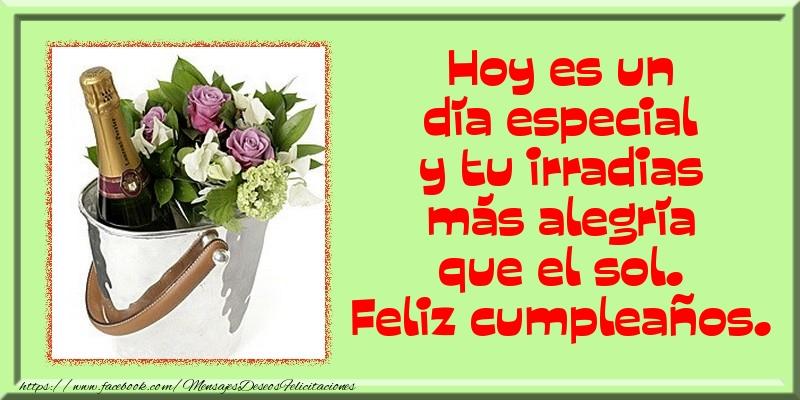 Felicitaciones de cumpleaños - Hoy es un día especial - mensajesdeseosfelicitaciones.com