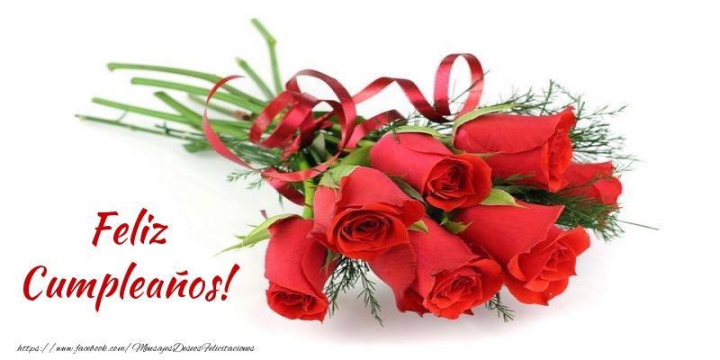 Felicitaciones con flores - Feliz Cumpleaños!