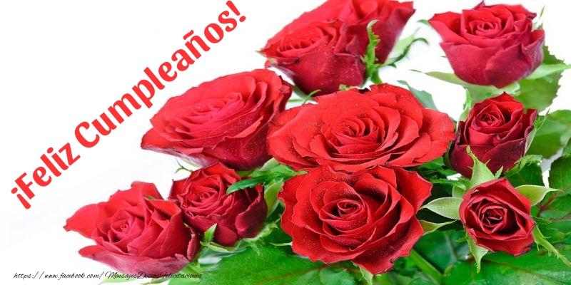 Felicitaciones con flores - ¡Feliz Cumpleaños!