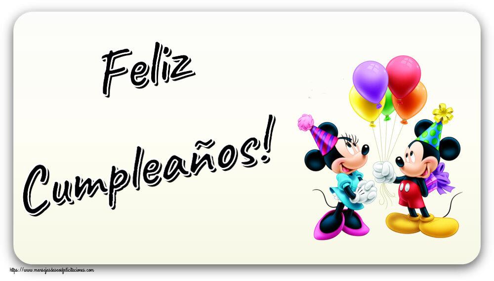 Felicitaciones para niños - Feliz Cumpleaños! ~ Mickey and Minnie mouse