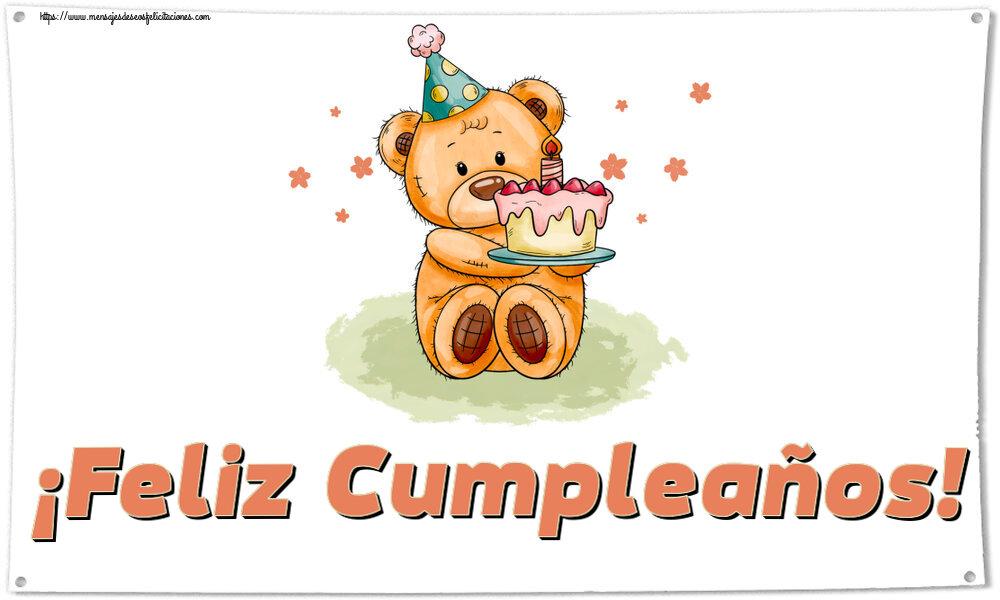Felicitaciones para niños - ¡Feliz Cumpleaños!