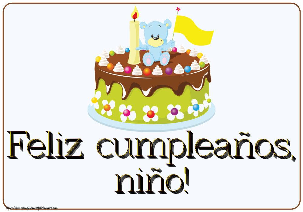 Felicitaciones para niños - Feliz cumpleaños, niño!