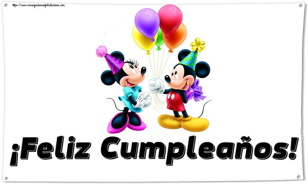 Felicitaciones para niños - ¡Feliz Cumpleaños! ~ Mickey and Minnie mouse