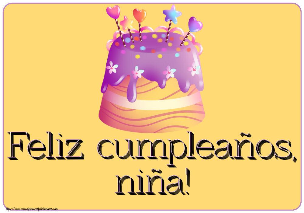 Felicitaciones para niños - Feliz cumpleaños, niña!