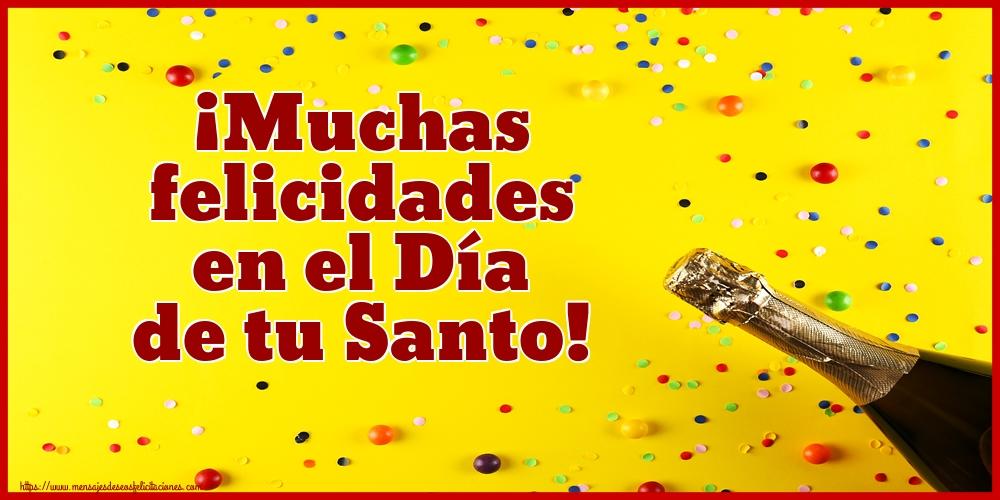 Felicitaciones de Onomástica - ¡Muchas felicidades en el Día de tu Santo!