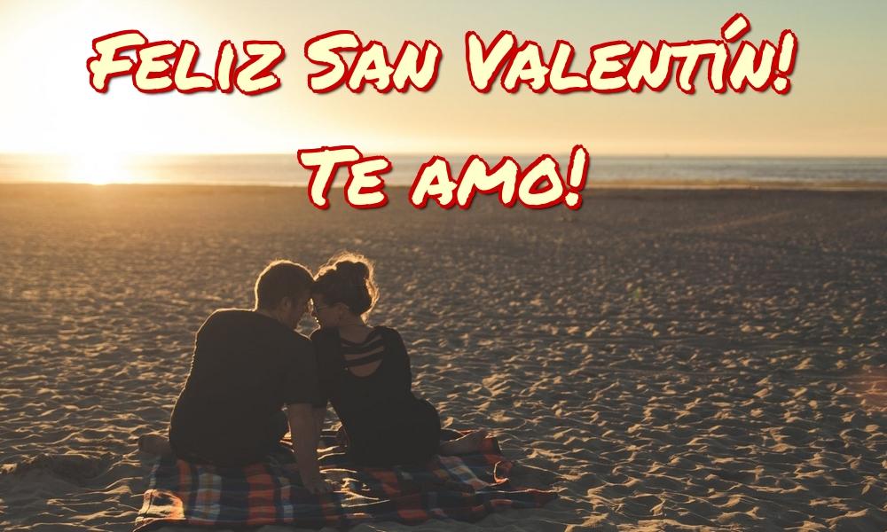 Felicitaciones de San Valentín - Feliz San Valentín! Te amo!