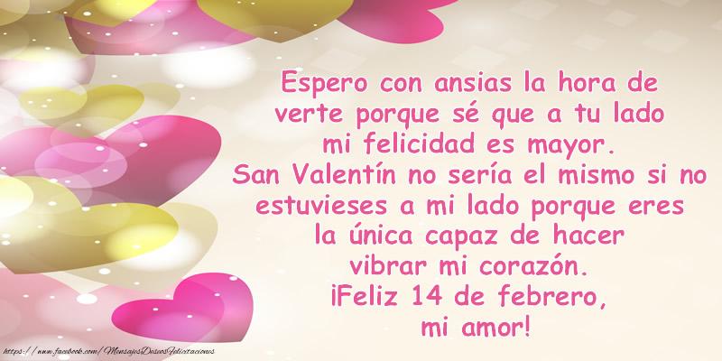 San Valentín ¡Feliz 14 de febrero, mi amor!