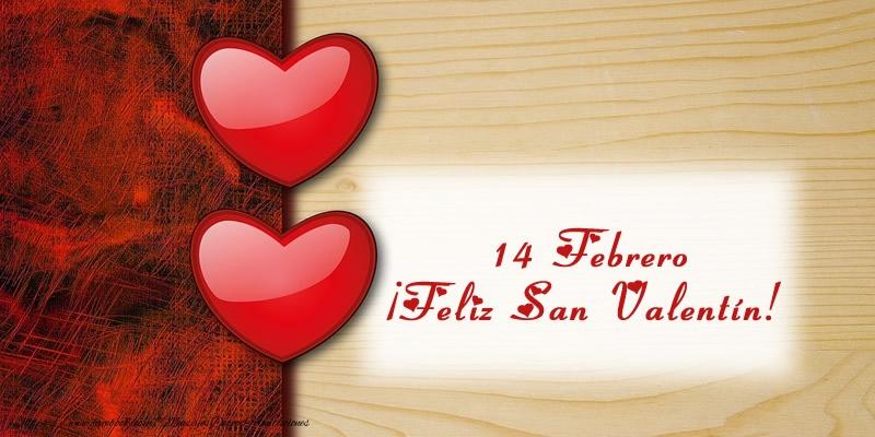 Felicitaciones de San Valentín - 14 Febrero ¡Feliz San Valentín!