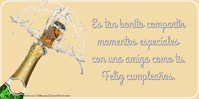 Mensajes de cumpleaños - Es tan bonito compartir momentos especiales - mensajesdeseosfelicitaciones.com