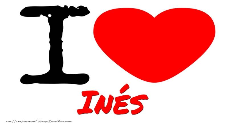 Felicitaciones de amor - I Love Inés