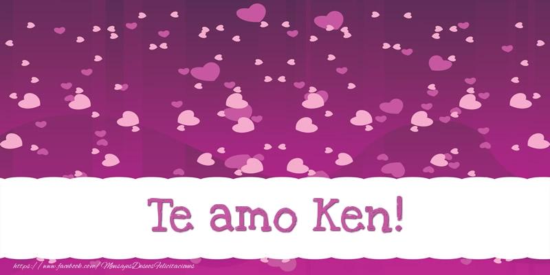 Felicitaciones de amor - Te amo Ken!