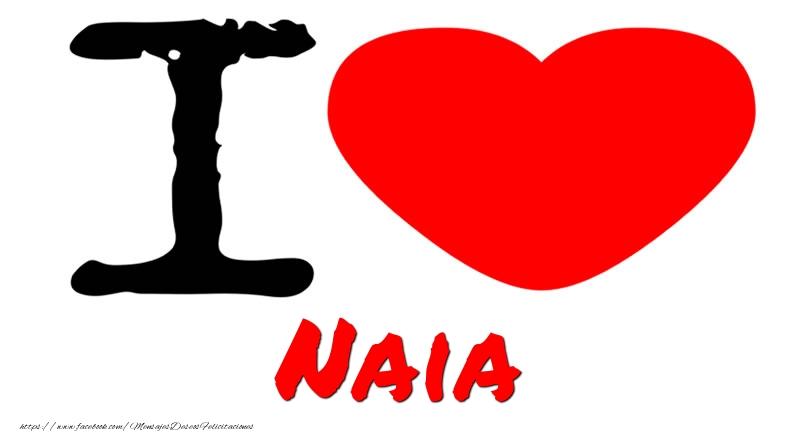 Felicitaciones de amor - I Love Naia