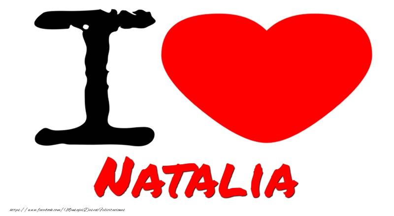Felicitaciones de amor - I Love Natalia