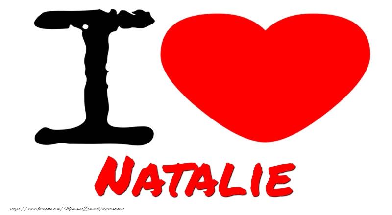 Felicitaciones de amor - I Love Natalie