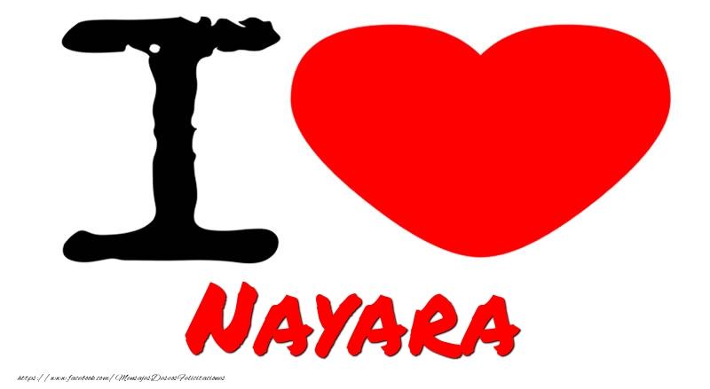 Felicitaciones de amor - I Love Nayara