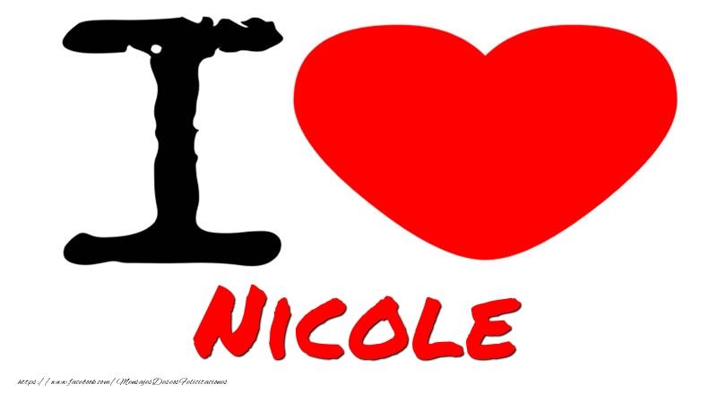 Felicitaciones de amor - I Love Nicole