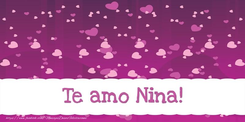 Felicitaciones de amor - Te amo Nina!