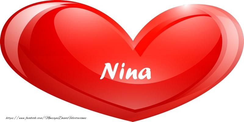Felicitaciones de amor - Nina en corazon!