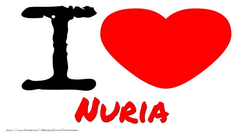 Felicitaciones de amor - I Love Nuria