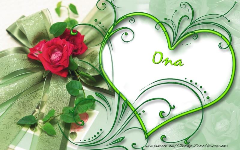 Felicitaciones de amor - Ona