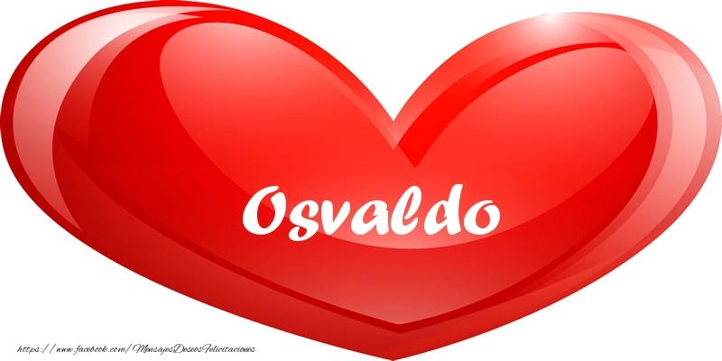 Felicitaciones de amor - Osvaldo en corazon!