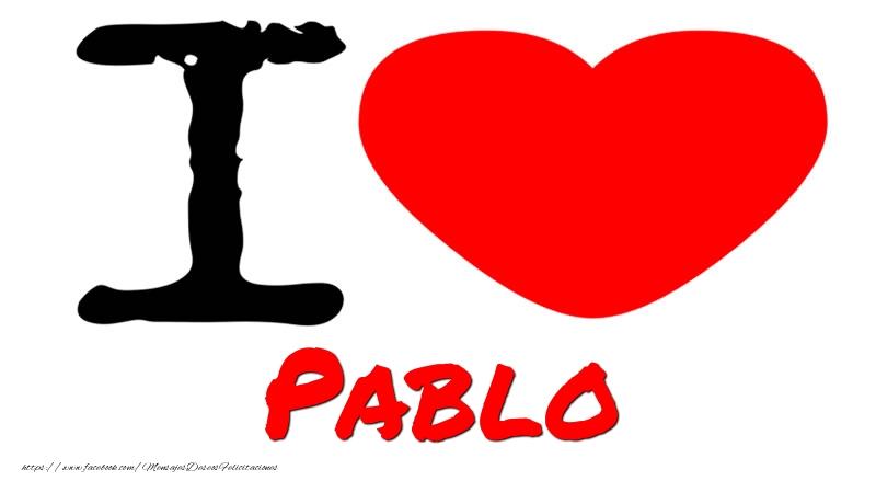 Felicitaciones de amor - I Love Pablo