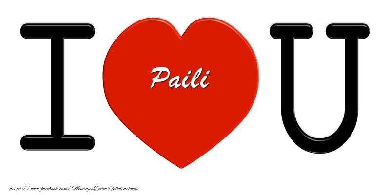 Felicitaciones de amor - Paili I love you!