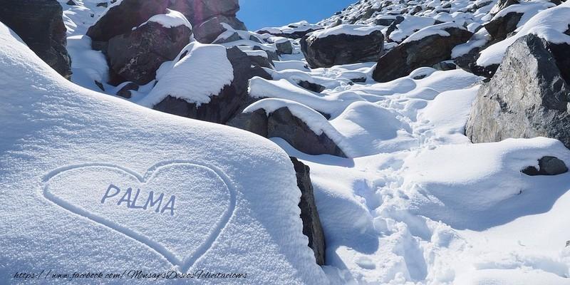 Felicitaciones de amor - Te amo Palma! Corazon