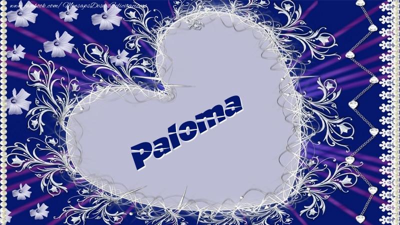 Felicitaciones de amor - Paloma