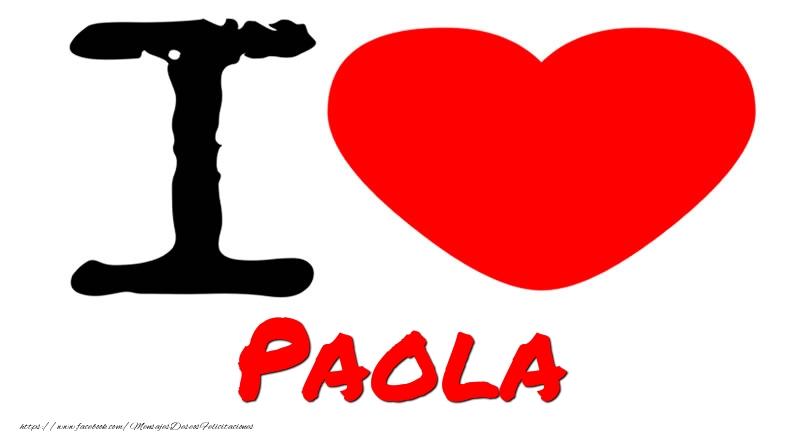 Felicitaciones de amor - I Love Paola
