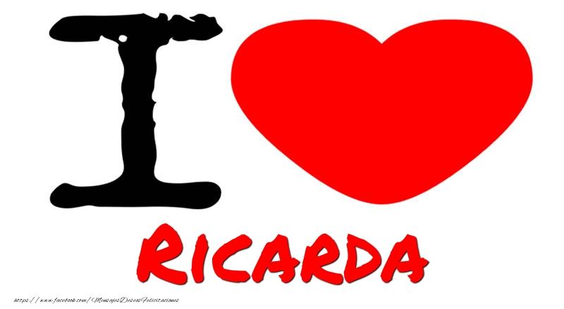 Felicitaciones de amor - I Love Ricarda