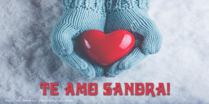 Felicitaciones de amor - TE AMO Sandra!