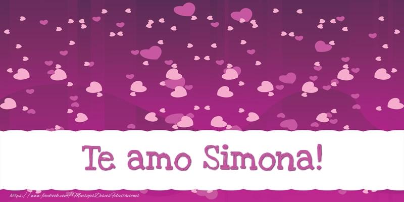Felicitaciones de amor - Te amo Simona!