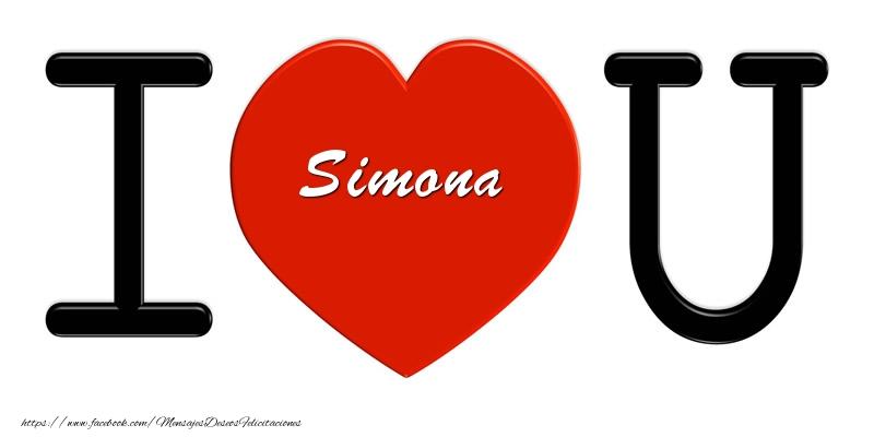 Felicitaciones de amor - Simona I love you!