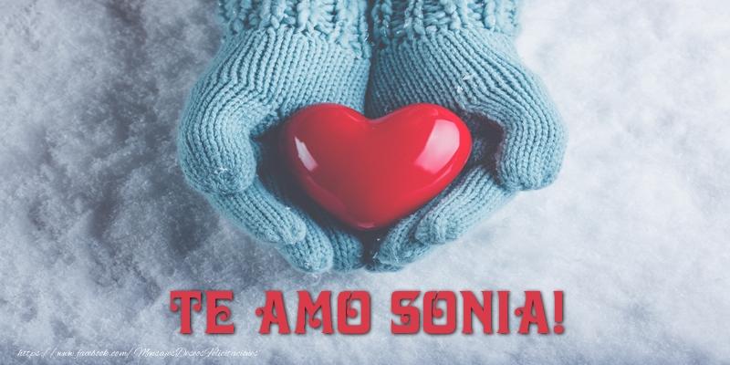 Felicitaciones de amor - TE AMO Sonia!