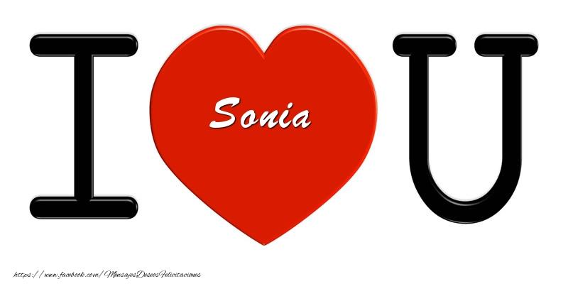 Felicitaciones de amor - Sonia I love you!